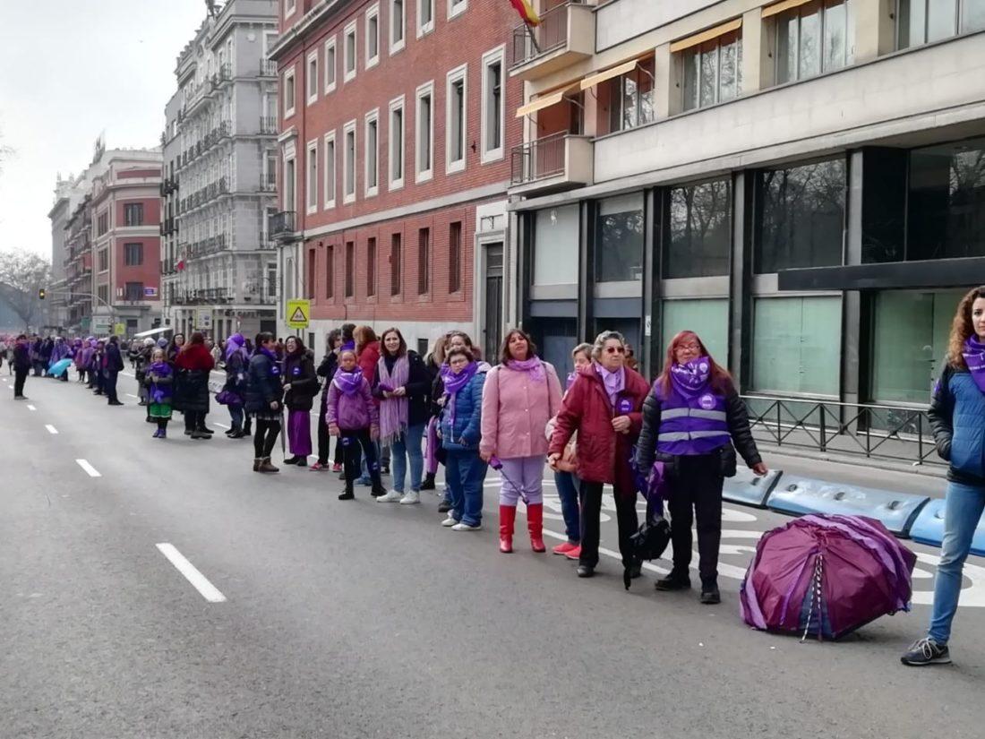 Hacia el 8 de Marzo: Cadena humana feminista en Madrid