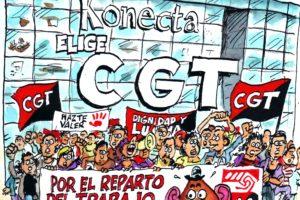 Eleccciones Sindicales: Konecta elige a CGT, que aplasta al resto de las organizaciones en la primera mayoría absoluta en Konecta BTO (Madrid)