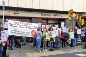 Rueda de prensa de los movimientos sociales de Lleida en solidaridad con la PAH
