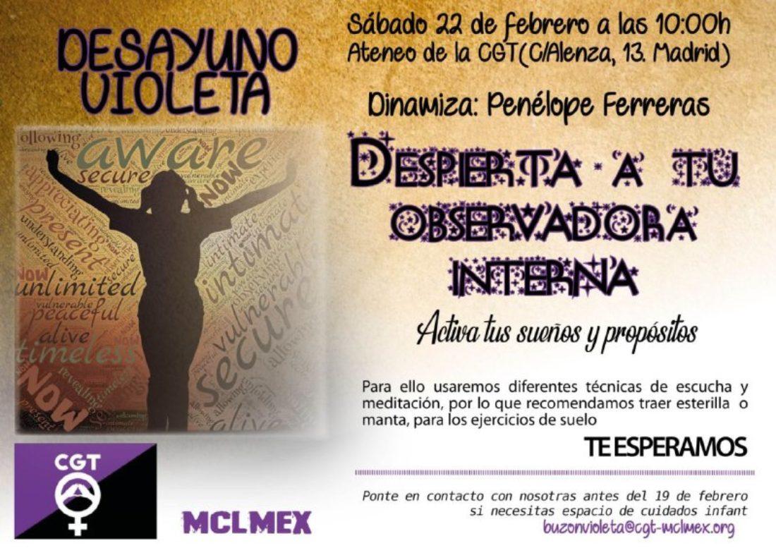 Desayuno Violeta CGT – MCLMEx