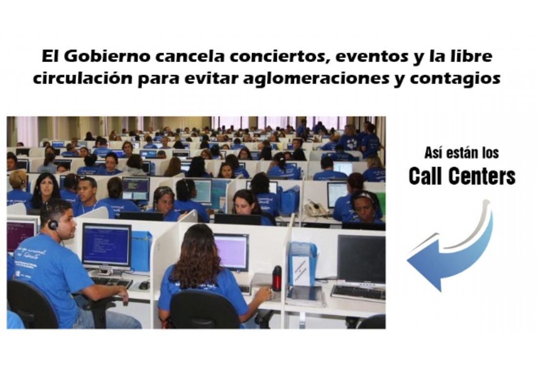El Gobierno no limita las concentraciones de personas que se dan en los centros de trabajo de telemarketing