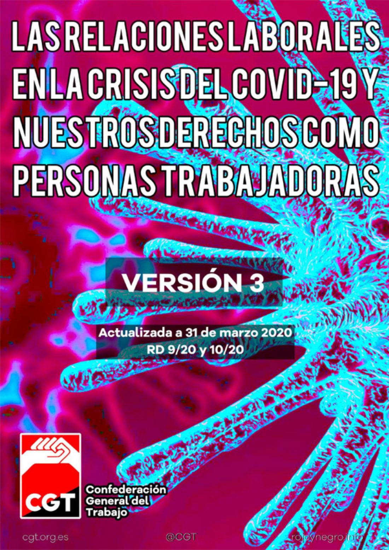 Guía sobre «Las relaciones laborales en la crisis del Covid-19 y nuestros derechos como personas trabajadoras» actualizada a 31 de marzo de 2020