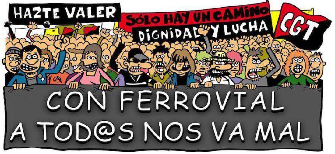 1 de Mayo, nada que celebrar para más de 2000 trabajadores y trabajadoras de Ferrovial S.A.
