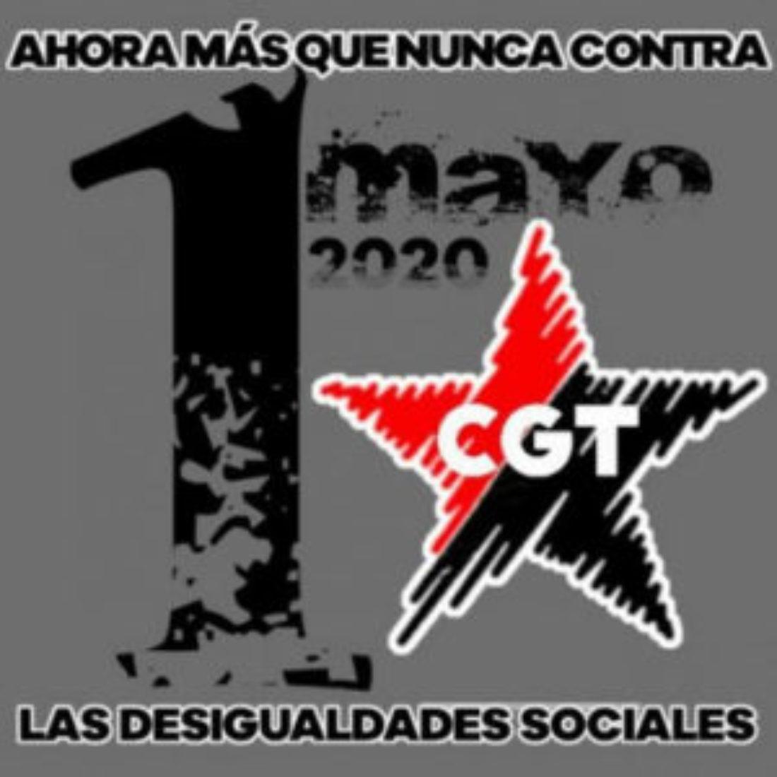 Este 1º de Mayo CGT en las redes sociales