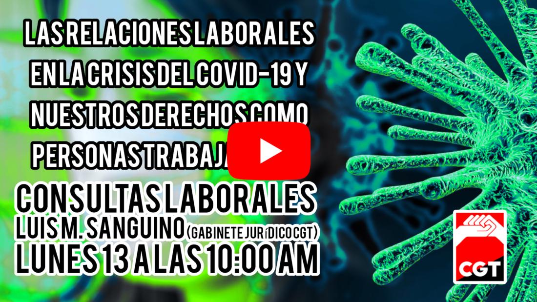 Directo: Lunes 20 abril – Covid-19 Salud Laboral 2