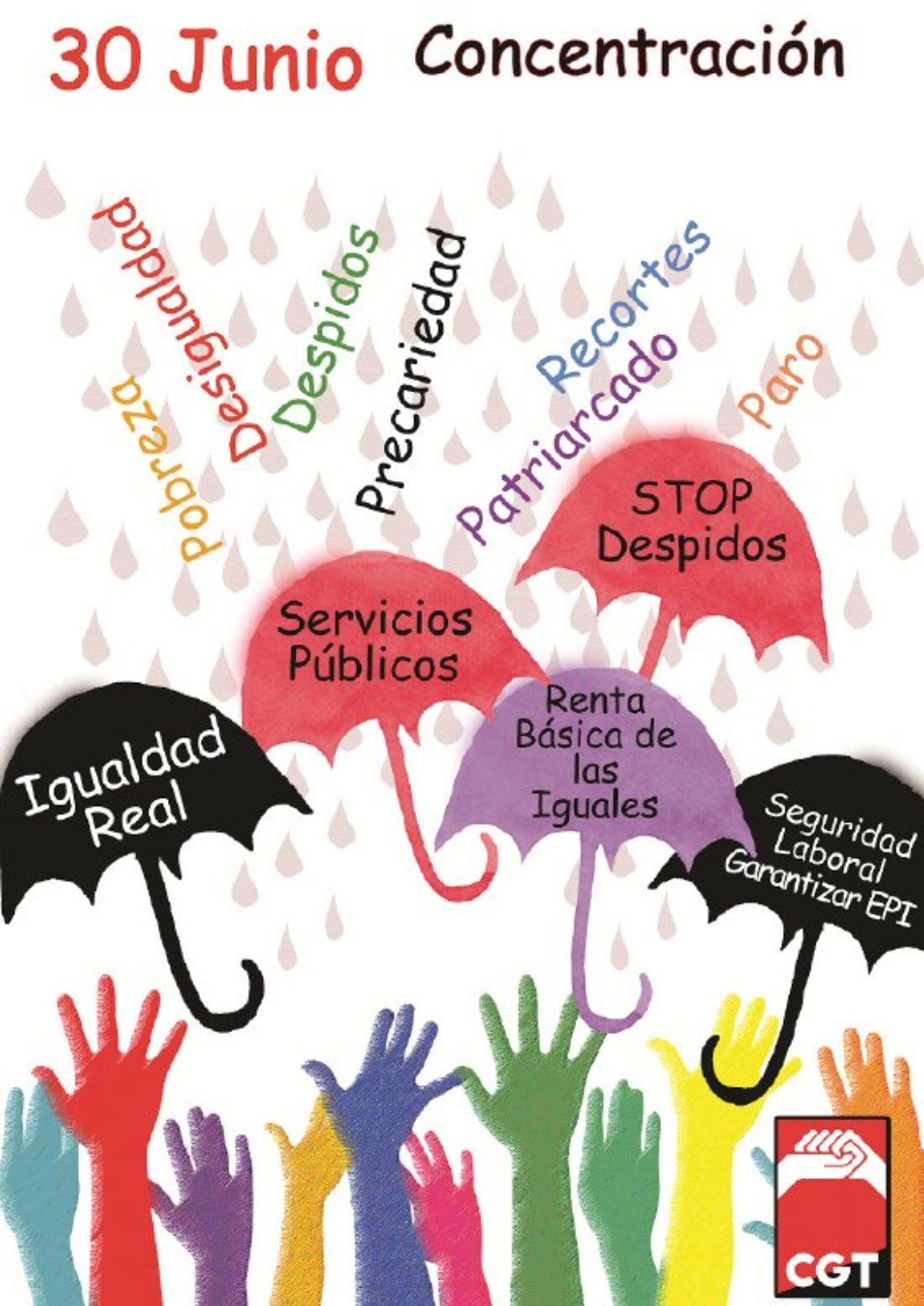 CGT anuncia la vuelta a las calles para exigir que esta nueva crisis no la paguen los colectivos más precarios y desfavorecidos