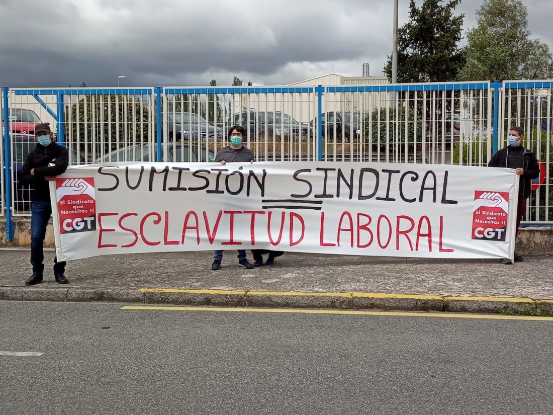 Acto de protesta de la Sección Sindical de CGT en ZF-TRW