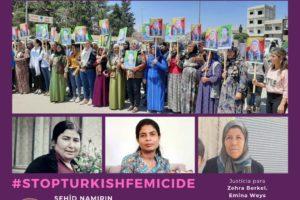 Condena a Turquía por el asesinato de las compañeras en lucha en el Kurdistán libre