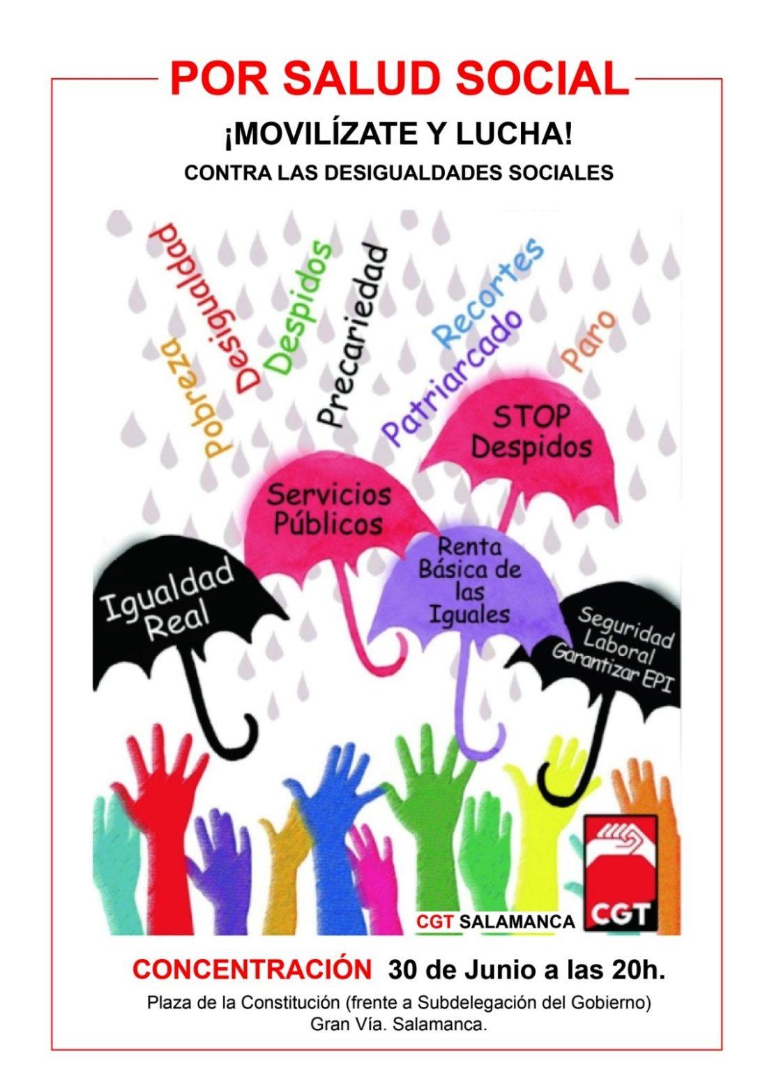 Concentración 30 de junio en Salamanca