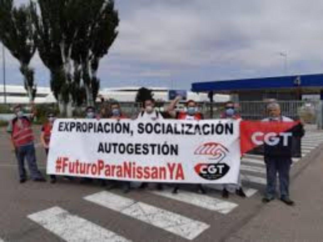 Concentración solidaridad trabajador@s Nissan en Burgos