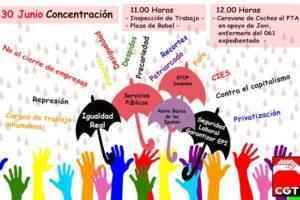 Por la justicia social y ambiental y contra las desigualdades sociales, concentración ante la Inspección de Trabajo en Málaga el 30J