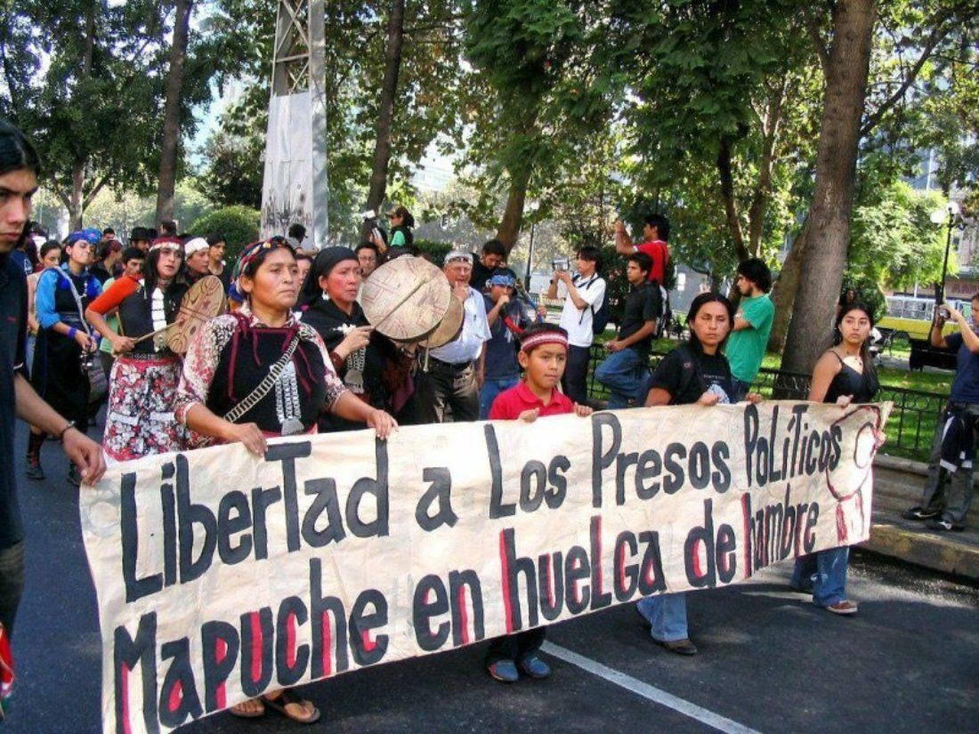 CGT exige la puesta en libertad de los presos políticos mapuches en huelga de hambre
