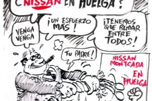 Movilización de la plantilla de Nissan en Madrid