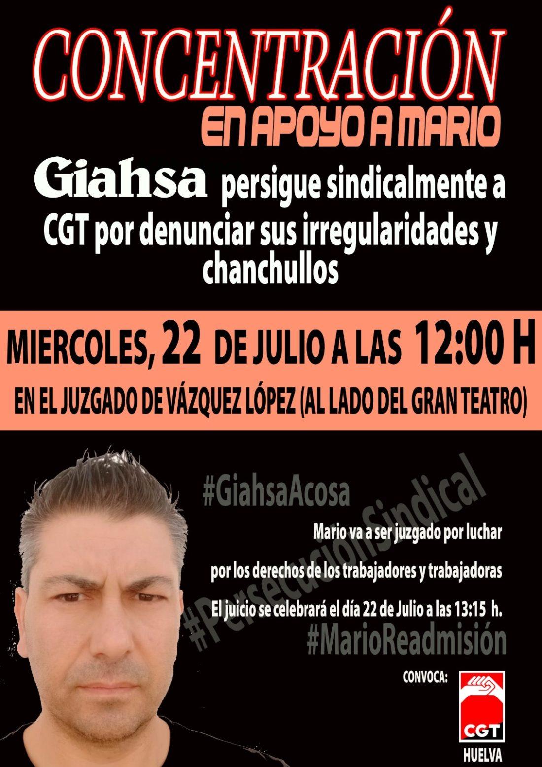 CGT Huelva denuncia la desmedida subida de salarios de los altos cargos de GIAHSA