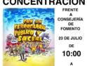 Concentración en Sevilla en defensa del Tren Rural en Andalucía