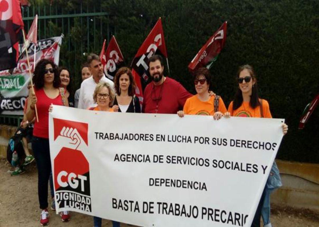 Los trabajadores y trabajadoras de la Agencia de Servicios Sociales y Dependencia van a la huelga los días 22 y 23 de julio