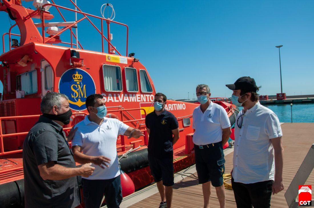 CGT explica una vez más a Podemos la urgente necesidad de reforzar y proteger el servicio de Salvamento Marítimo