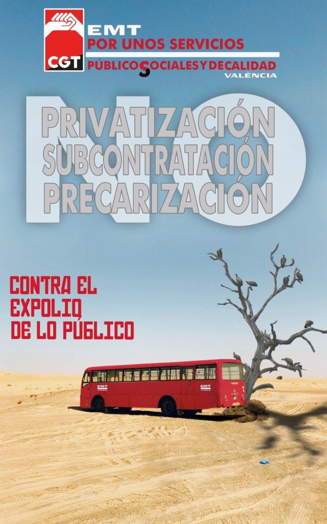 15 de septiembre comienzan los paros en EMT València