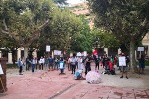 La huelga de Enseñanza en Huesca
