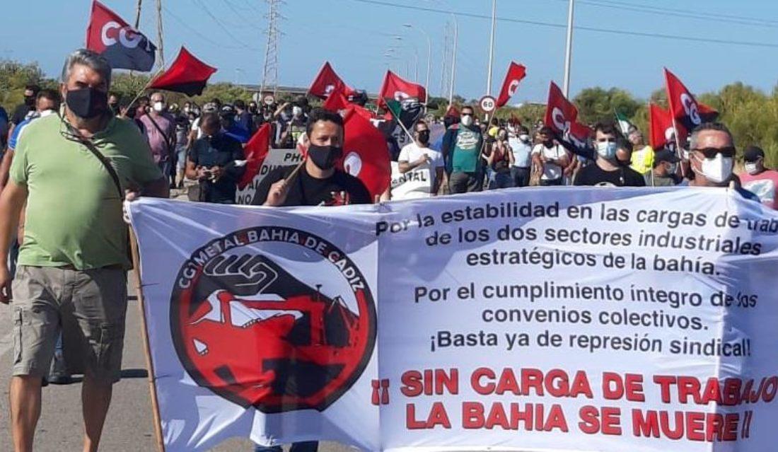 La Huelga General en el sector del Metal en Bahía de Cádiz se suspende hasta las 0h del día 18 de septiembre