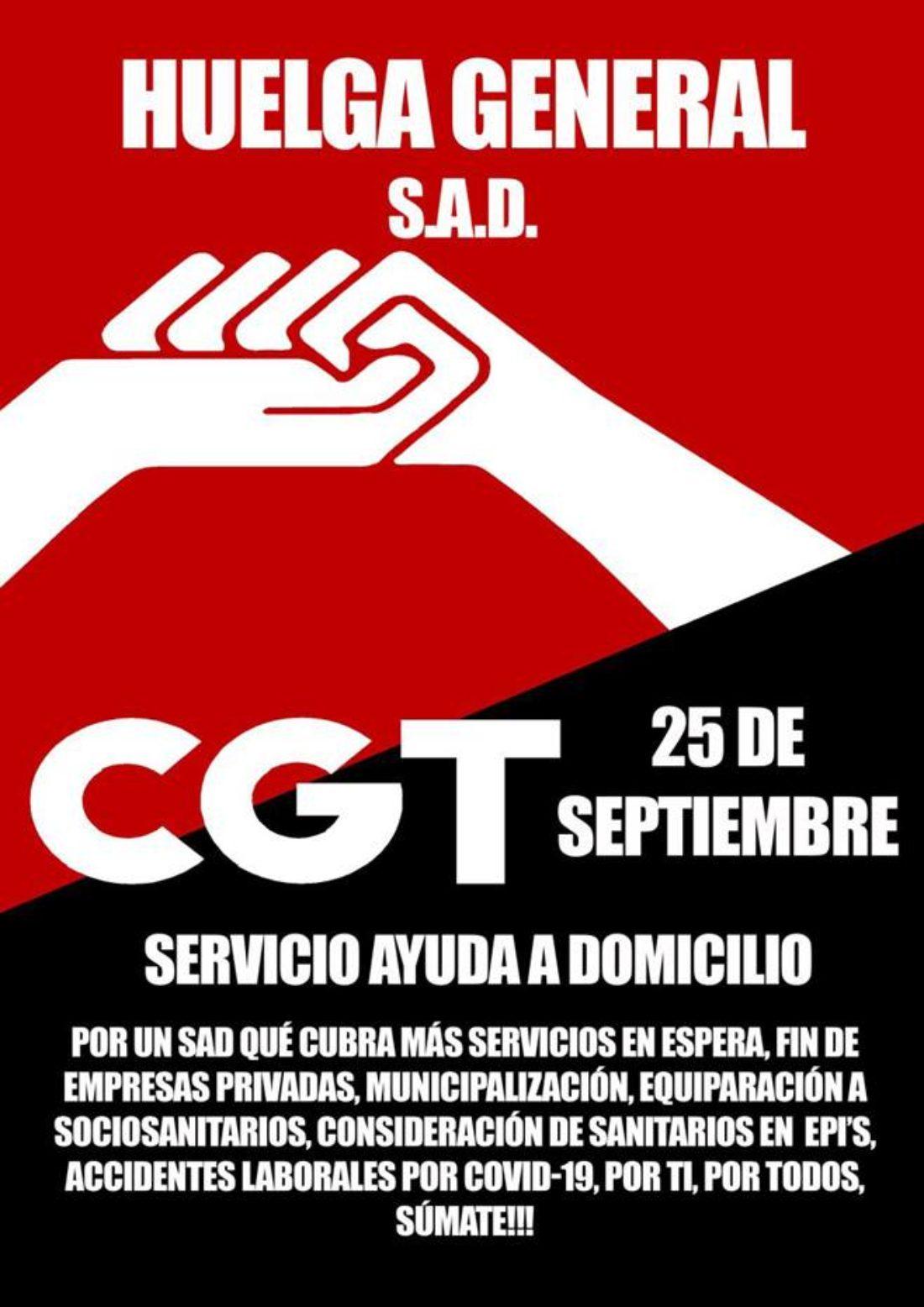 Continúa el proceso hacía la huelga del 25 de septiembre en el Servicio de Ayuda a Domicilio (SAD) en Andalucía