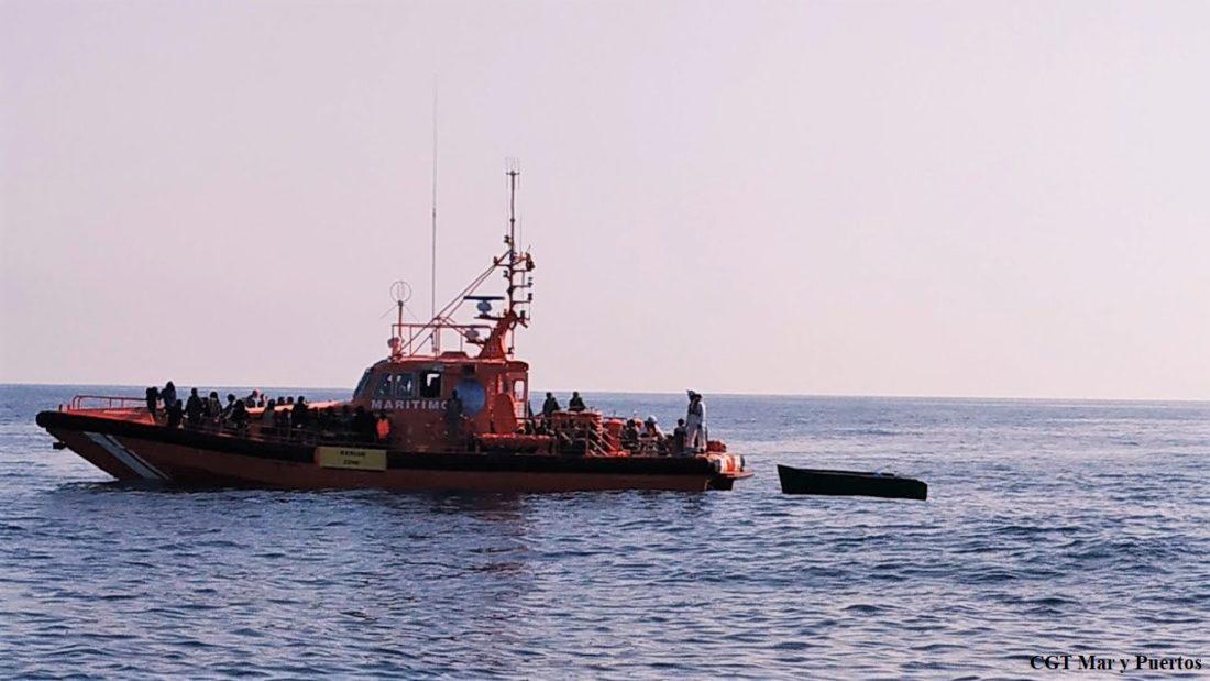 """CGT: """"Ni los trabajadores de Salvamento Marítimo son """"agentes"""", ni la lucha sindical contra la explotación laboral será utilizada para fomentar el discurso racista de la ultraderecha"""""""