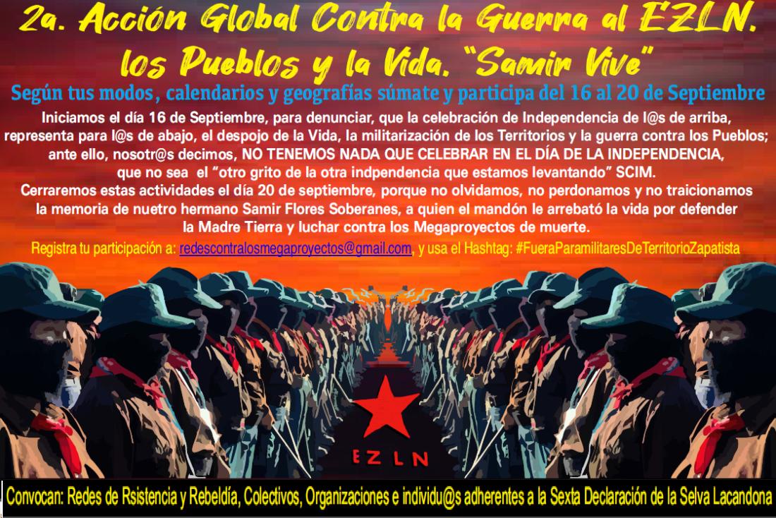 CGT exige al Estado de México el fin de la guerra contra el EZLN y la persecución de las comunidades zapatistas