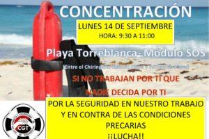 Los socorristas de playa de Fuengirola dicen: ¡Basta ya!
