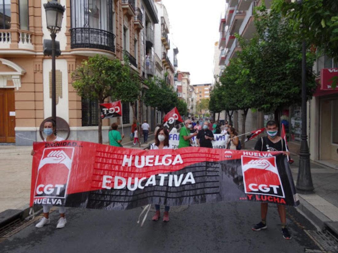 CGT califica la huelga educativa de gran éxito