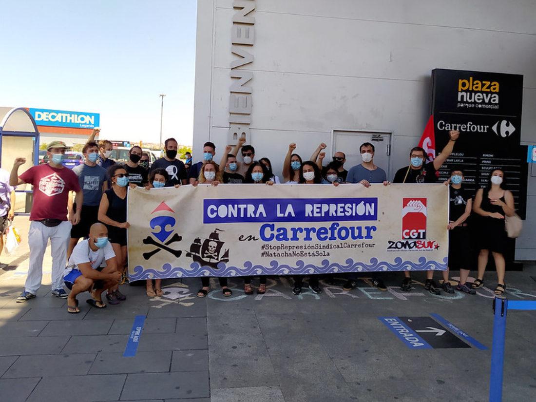 Carrefour reconoce el despido improcedente de nuestra delegada en Leganés