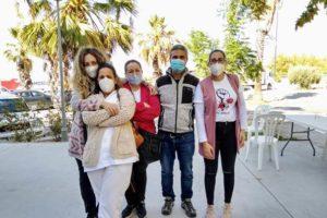 Las trabajadoras del Ayuntamiento de Marinaleda en huelga llevan al Parlamento andaluz su protesta en el día de hoy