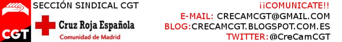 Escrito de la Sección Sindical de CGT en Cruz Roja Española
