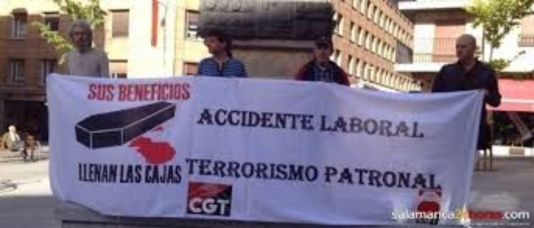 2-O: Concentración contra los tres últimos accidentes laborales producidos en la provincia de Salamanca