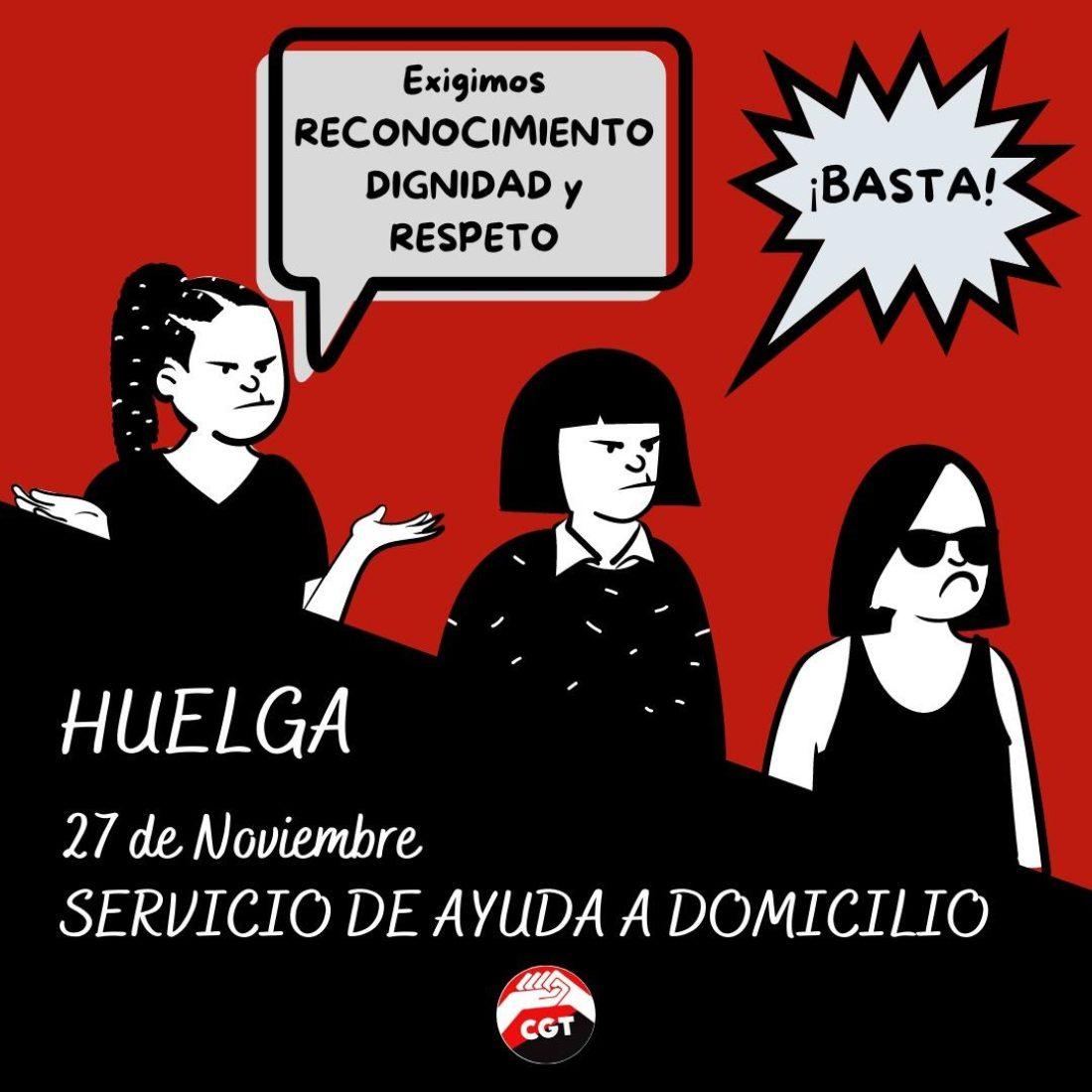 Continúa el proceso hacía la huelga general del sector de Ayuda a Domicilio en Andalucía el próximo 27 de noviembre