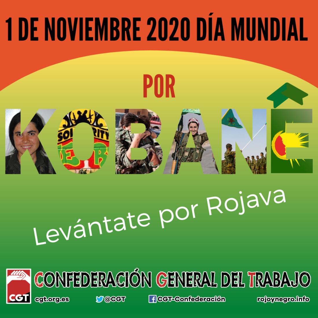 1 de noviembre Día Mundial por Kobanê