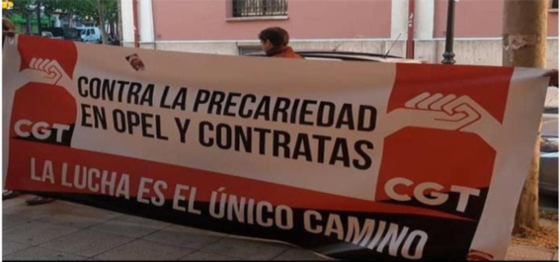La Sección Sindical CGT OPEL/PSA denuncia contratos de obra en fraude de ley