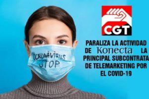 Las organizaciones sindicales de Konecta obligan a la empresa a prolongar el teletrabajo como medida de contención sanitaria frente a la 3ª ola del Covid-19
