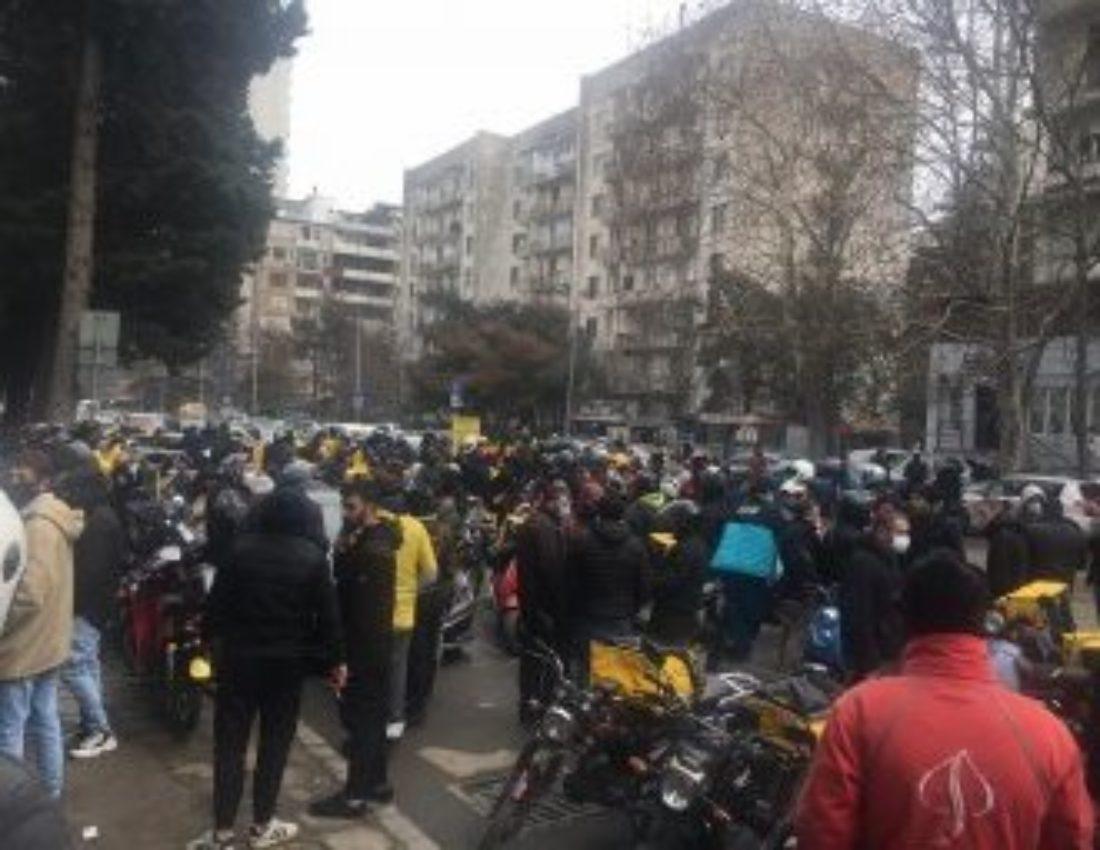 Georgia: Huelga de los repartidores de la plataforma Glovo