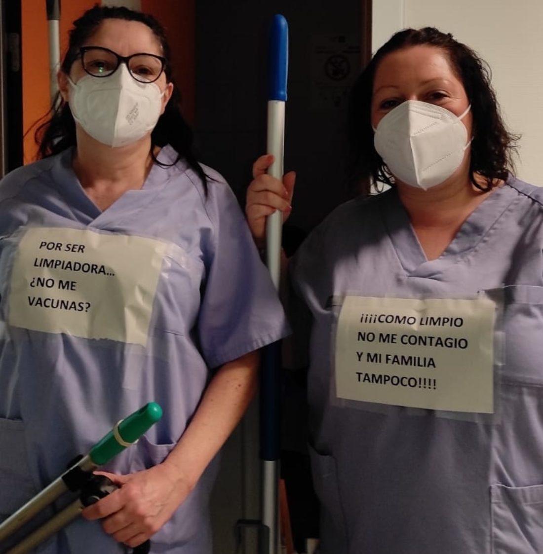 Las limpiadoras de la Fe exigen ser vacunadas