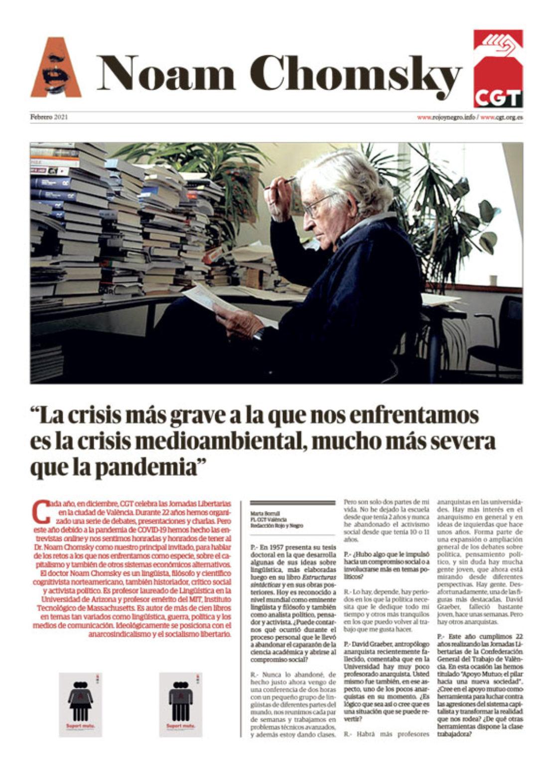 Especial Entrevista a Noam Chomsky – Febrero 2021