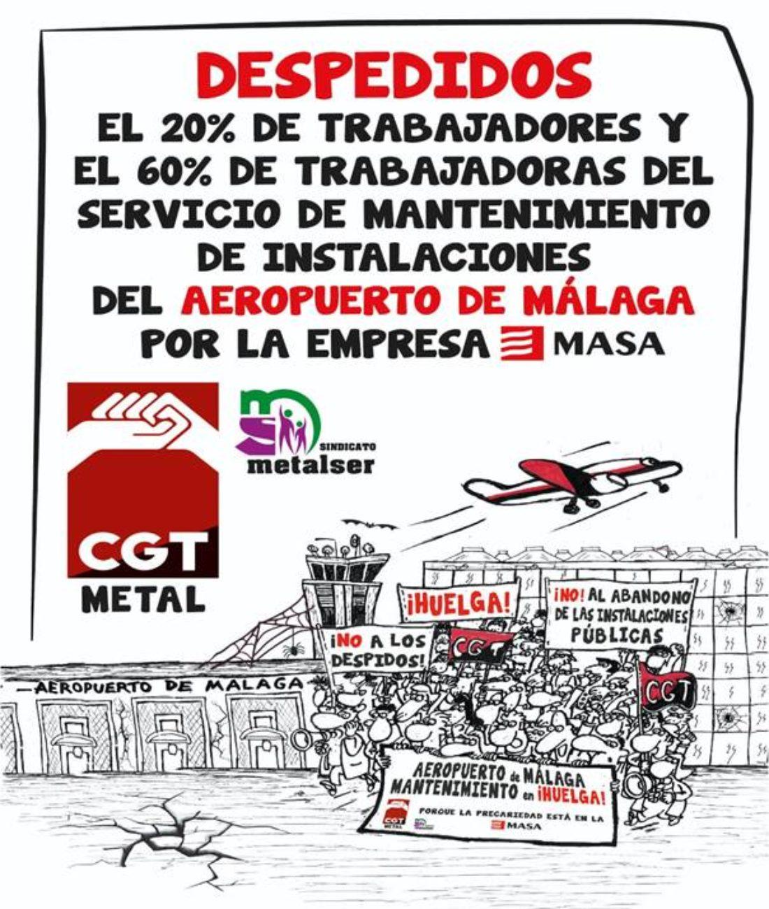 Garantizado el empleo y las condiciones sociolaborales en el servicio de mantenimiento del aeropuerto de Málaga