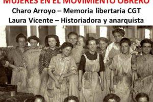 5-M: Videoconferencia «Mujeres en el movimiento obrero»