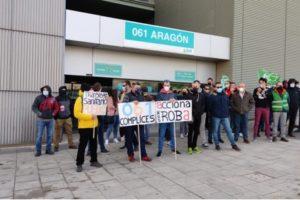 Manifestación del día 18 de marzo del transporte sanitario en Zaragoza