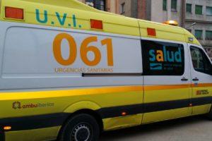 Manifestación Ambulancias 061 en Zaragoza