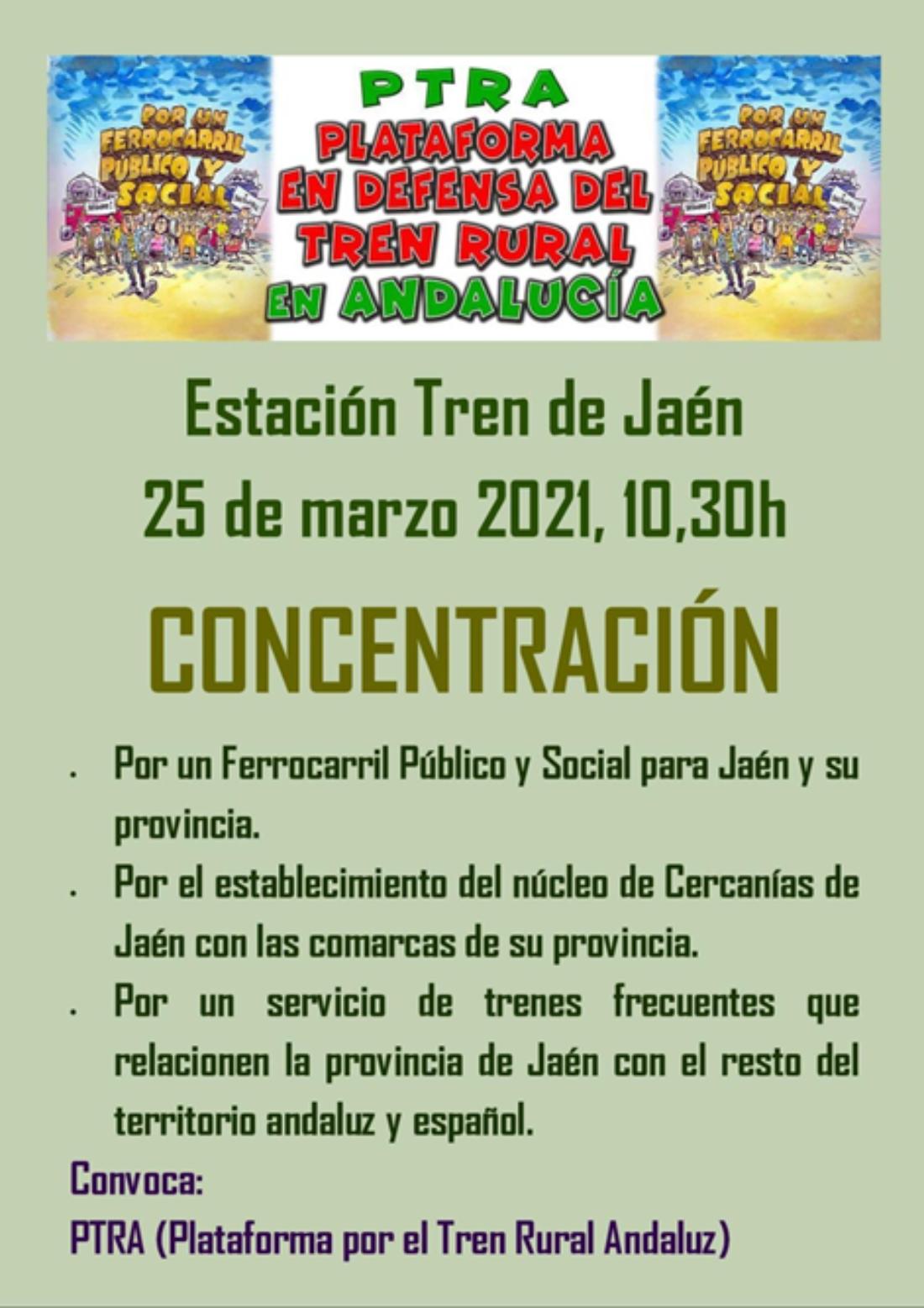 Acciones de protestas públicas en Jaén ante la nefasta situación para la movilidad en la Provincia