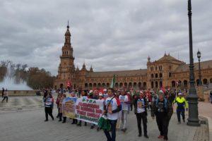 Acciones de protestas públicas en Almería ante la nefasta situación para la movilidad en la provincia