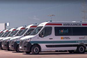 Movilizaciones contra los incumplimientos de Transalud, empresa de ambulancias de Huesca