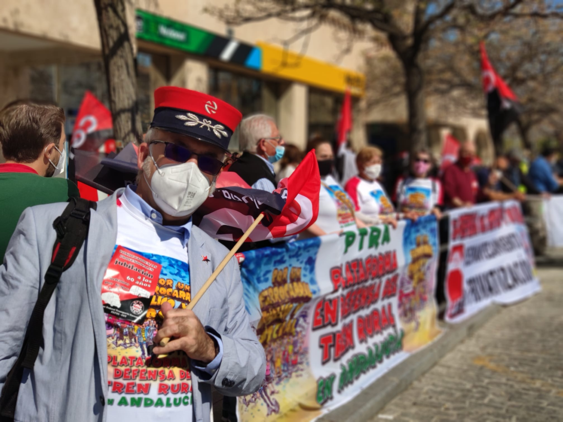 PTRA anuncia nuevas acciones de protesta por la situación ferroviaria en Andalucía en los meses de abril y mayo