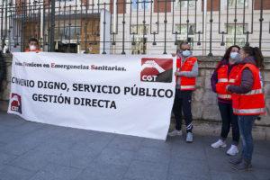 CGT en defensa del transporte sanitario en Valladolid