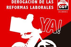 Concentración por la derogación de las Reformas Laborales en Salamanca